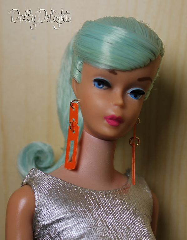 Vintage Reproduction Patio Party Earrings Made For Vintage Barbie *Doll Jewelry*